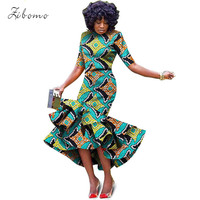 African dresses for women wax fabric print banquet evening formal maxi plus big size african clothing long dashiki ankara dress