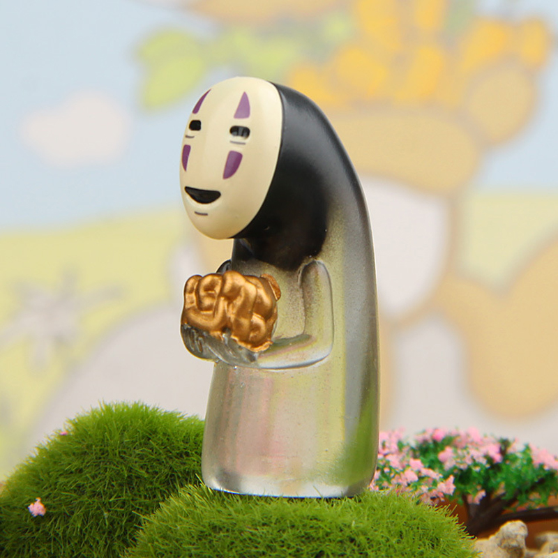 Studio Ghibli Spirited Away No Face Man Vinyl Action Figure Miyazaki Hayao Anime Kaonashi Model  Decoration Doll Kids Gift Toys studio ghibli classic the borrower arrietty figure scene figurine new in box free shipping
