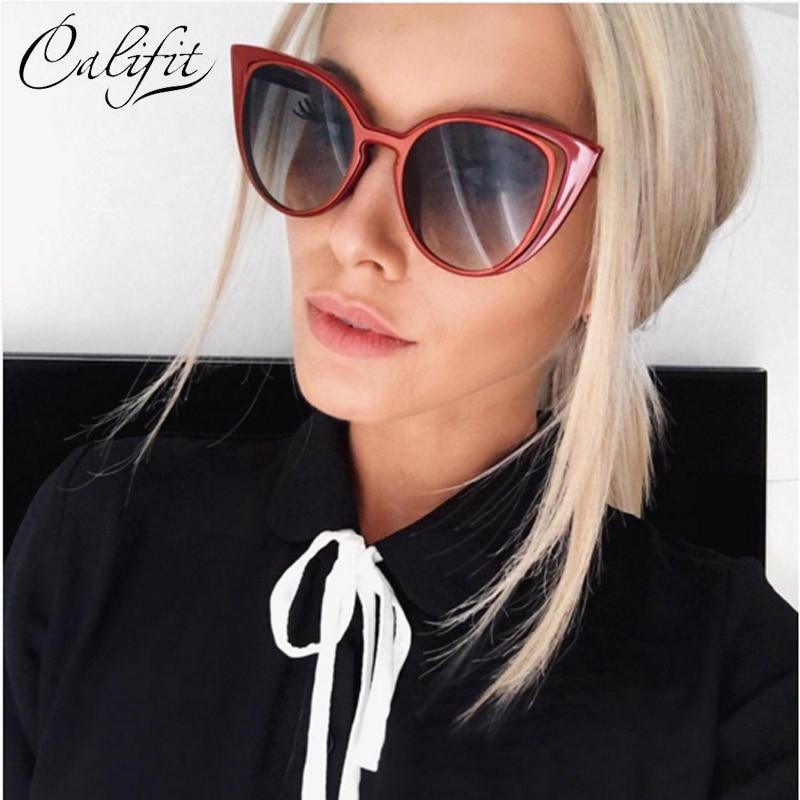 11f36f8b83b41 CALIFIT New Arrival Cat Eye Sunglasses Women UV400 Shades Female sun  Vintage Glasses For Women Brand Designer Eyewear 2018-in Sunglasses from  Apparel ...