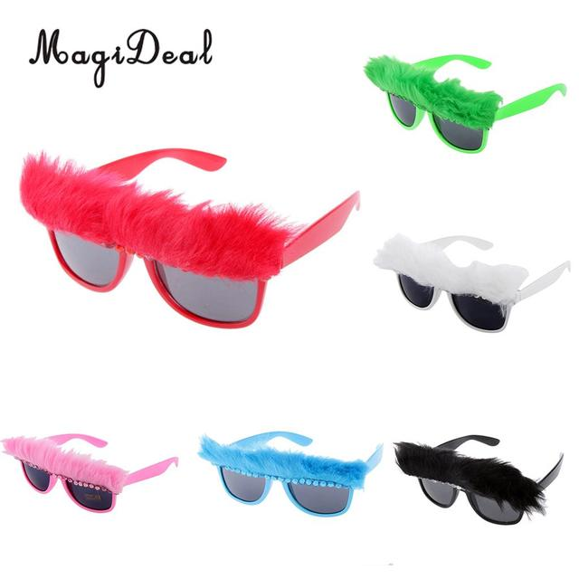 f5960568e9e MagiDeal Feather Glasses Fancy Dress Costume Party Novelty Sunglasses  Shades Hawaiian Beach Party Glasses