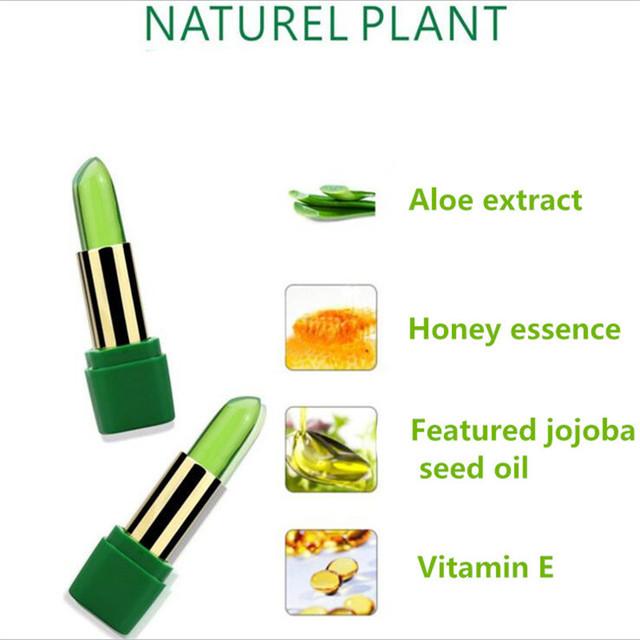 New Batom 99% ALOE VERA Natural Temperature Change Color Jelly Lipstick Long Lasting Moistourizing Nutritious Lip tBalm Makeup