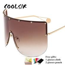 COOLSIR Women New Oversized Sunglasses Men 2019 Brand Designer Half Frame Windproof Visor Goggles Eyewear