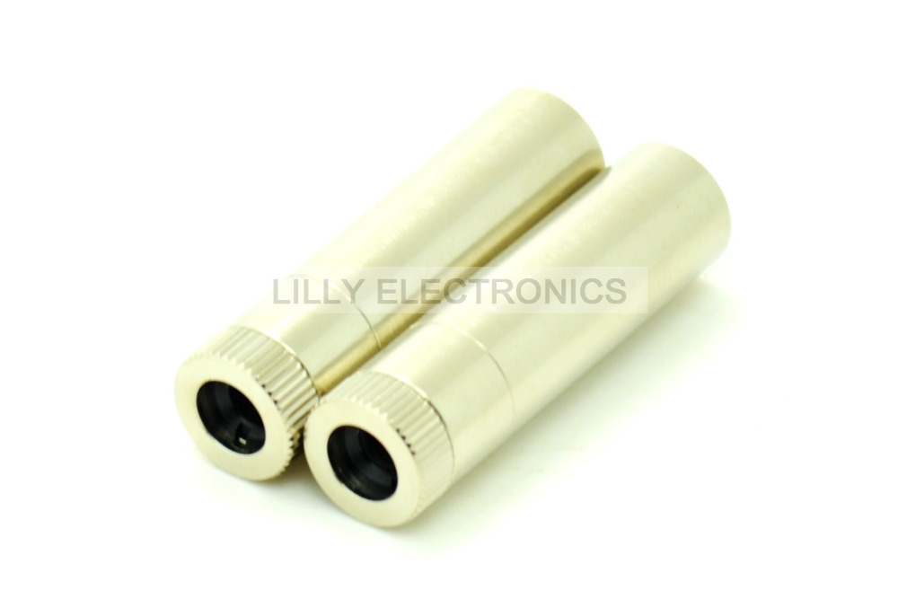 2pcs 12x40mm 5.6mm TO-18 Laser Diode Metal Housing W/ Lens
