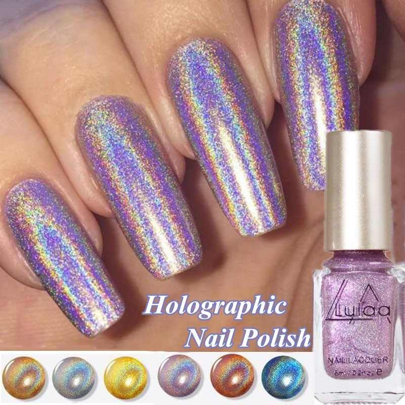1 Piece Nail Polish  Shiny Mirror Nail Polish Gorgeous Series Shiny Holographic Laser