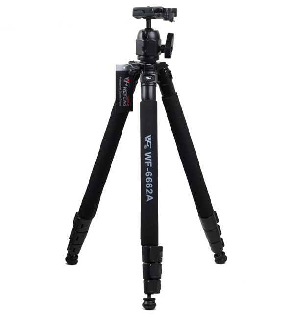 Weifeng Professional WF-6662A DV Video SLR Tripod Stand w/ Ballhead Photographic Equipment 6662A for Canon Nikon DSLR Camera original weifeng wf 6662a ball head camera tripod with carrying bag for canon nikon dslr slr