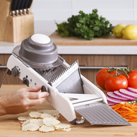 GoodFeer 4 Gear Adjustable Mandoline Slicer kitchen accessories Multi functional Vegetable Grater Shredder Slicer Cutter Sets
