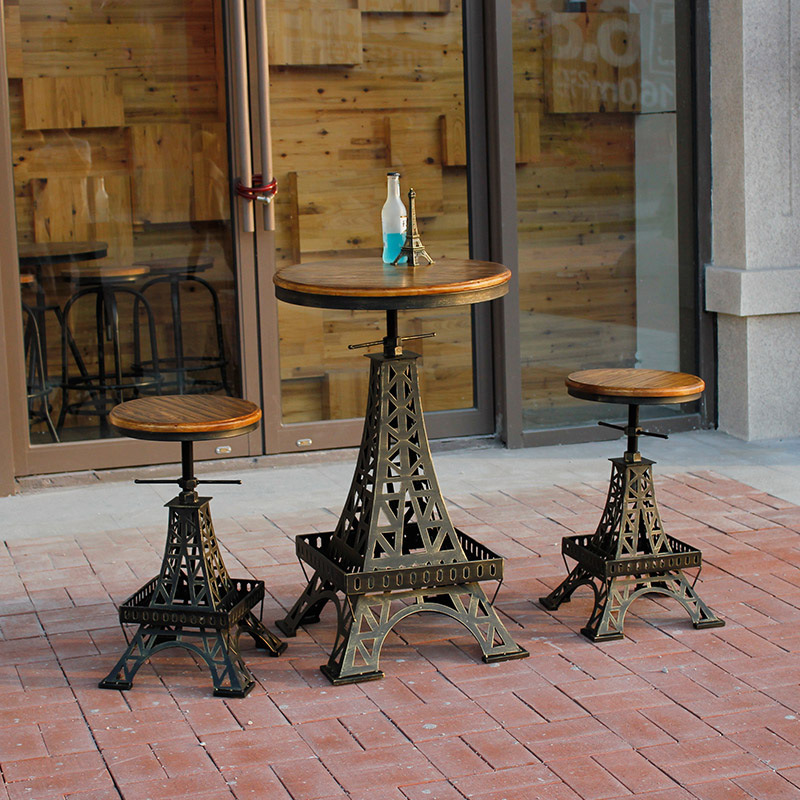 Restore Ancient Ways, Wrought Iron Do Old Paris Eiffel Tower Lift The Bar Tables And Chairs
