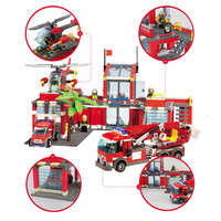 Mylb City Fire Station 774pcs Building Blocks Educational Bricks Toys Compatible With Legoe City Firefighter Dropshipping