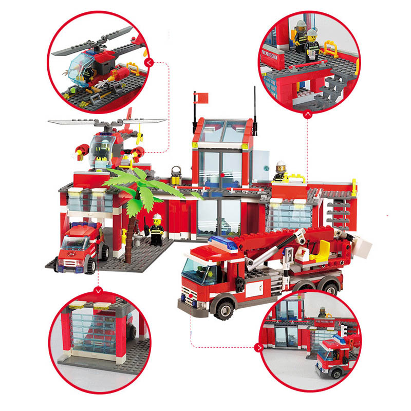 mylb City Fire Station 774pcs Building Blocks Educational Bricks Toys Compatible with legoe city Firefighter dropshipping new classic kazi 8051 city fire station 774pcs set building blocks educational bricks kids toys gifts city brinquedos xmas toy