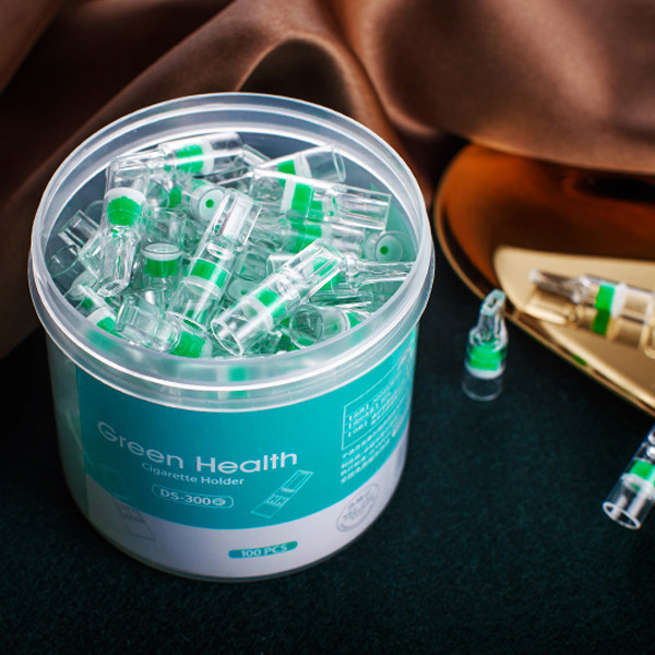 100Pcs Disposable Tobacco Cigarette Filter Smoking Reduce Tar Filtration Cleaning Holder 66CY(China)