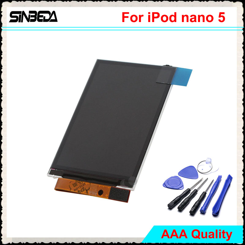 Sinbeda 100% Guarantee LCD Screen For iPod Nano 5 5th Gen LCD Display Screen Replacement 8GB 16GB For iPod Nano 5th 2.2 inch(China)