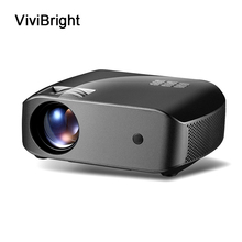 Proiettore LCD ViviBright 1280x720P 2800 lumen HDMI USB proiettore di intrattenimento domestico altoparlante incorporato proiettore Video 3D F10