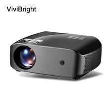 ViviBright LCD projektör 1280x720P 2800 lümen HDMI USB ev eğlence projektör dahili hoparlör 3D Video projektör F10