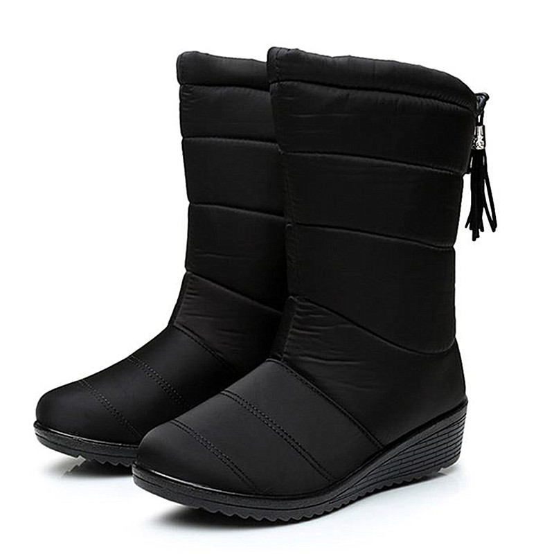 LAKESHI Women Boots Down Winter Ankle Boots Female Waterproof Warm Women Snow Boots Women Shoes Woman Warm Fur Botas Mujer