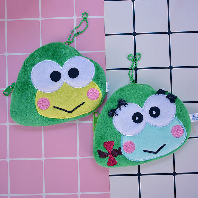 Ivyye 1pcs Big Eye Frog Anime Plush Coin Purse Cartoon Soft Change Bags Coins Pouch Money Wallet Card Key Storage Kids Gift To Be Highly Praised And Appreciated By The Consuming Public Coin Purses & Holders Luggage & Bags