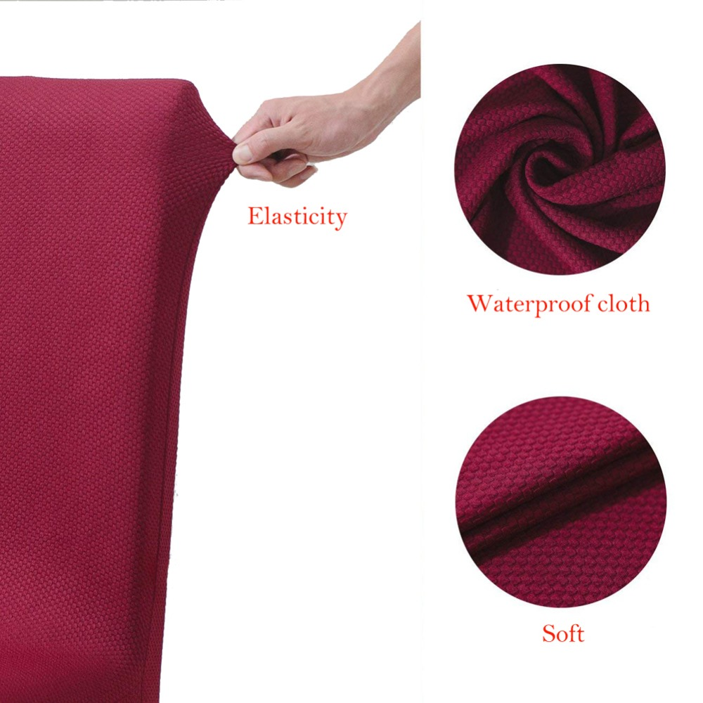 Velvet Fabric Chair Cover Waterproof Non-skid Anti-dirty Spandex Soft Chair Cover For Hotel Party Home Chair Cases Table & Sofa Linens Home & Garden