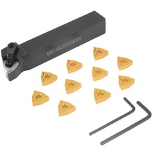 1 Set Practical Lathe Turning Tool 1pc MWLNR2020K08 Holder + 10pcs WNMG080404 Carbide Insert