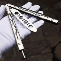 Без винтов металлические стальные ножи с бабочками BALISONG нож для тренера спортивный тусклый W/оболочка Кемпинг бытовые инструменты для дома