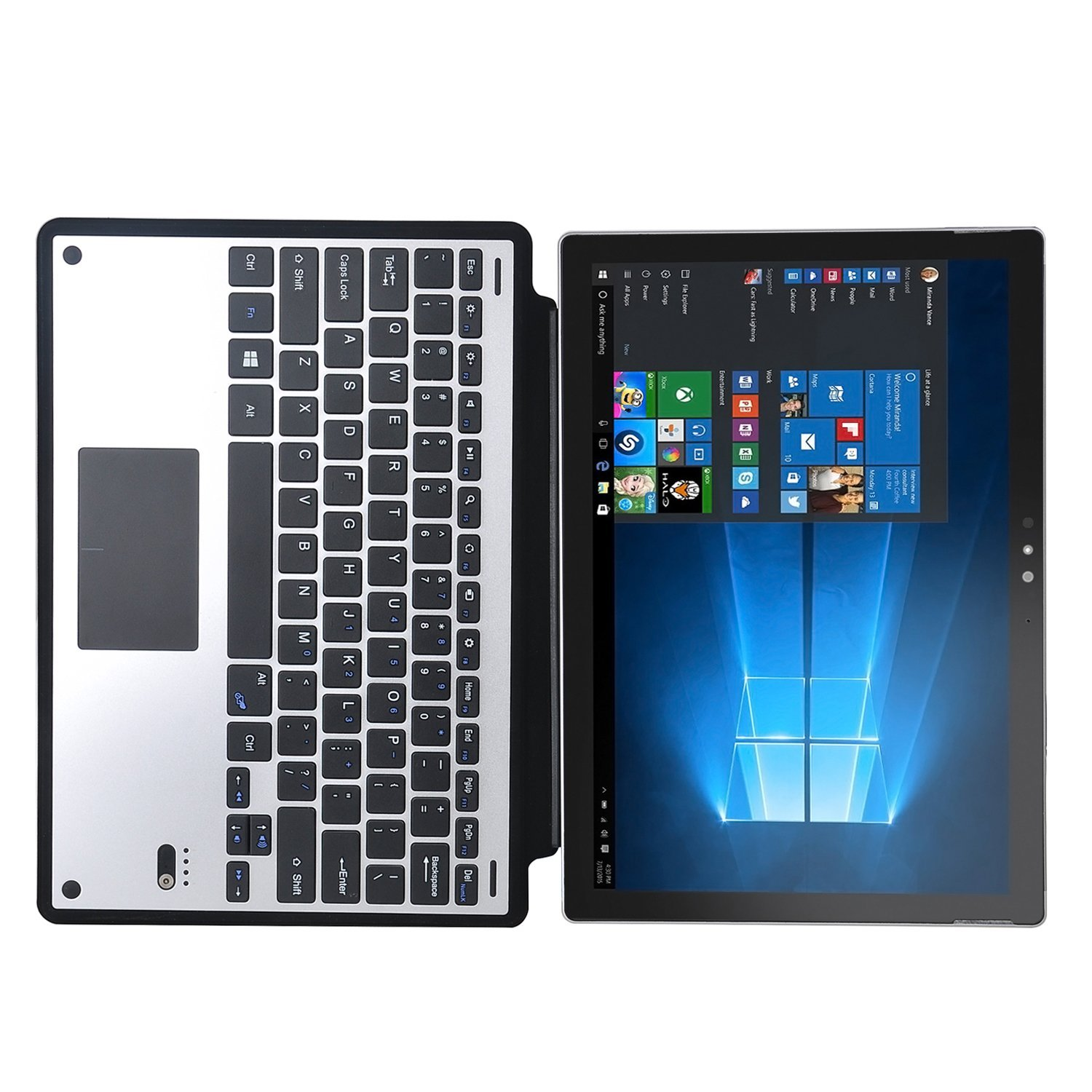 CucKooDo Ultra Thin High Quality DETACHABLE Bluetooth Keyboard Stand Case Cover for Microsoft Surface Pro 4 12 3 inch Tablet in Tablets & e Books Case