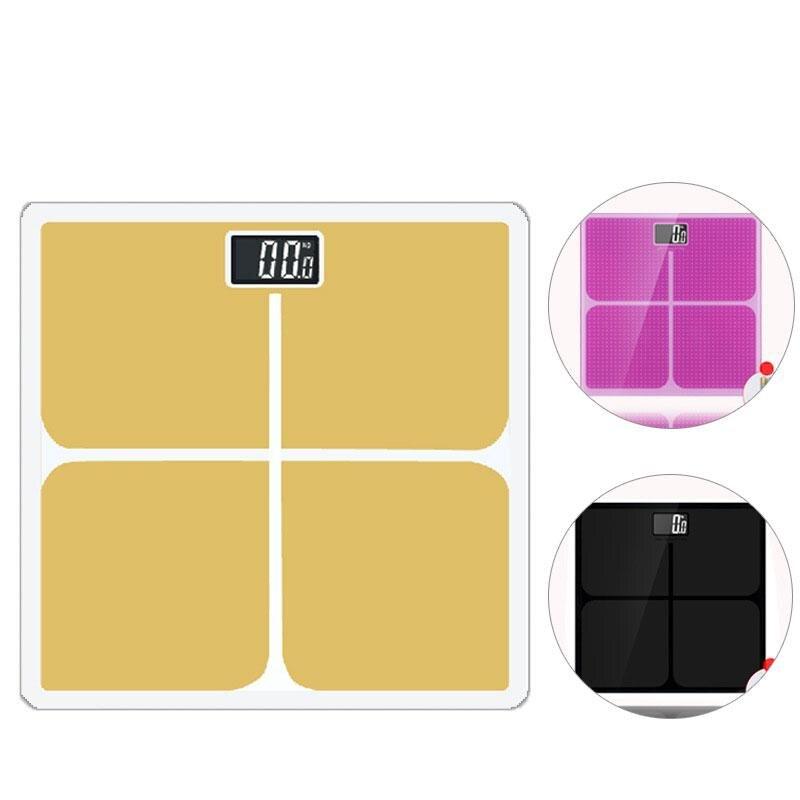 180 kg/400 lb Báscula de baño Digital inteligente casa electrónica escalas del cuerpo piso cuerpo escala de peso pantalla LCD