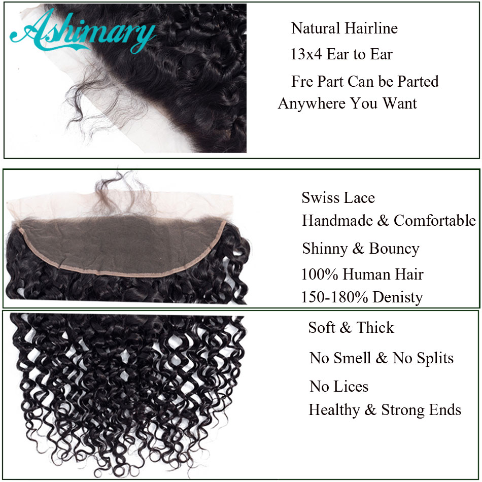Ashimary Deep Wave Brazilian Hair Bundles with Frontal Remy Hair 2 3 4 Bundles with Frontal Ashimary Deep Wave Brazilian Hair Bundles with Frontal Remy Hair 2/3/4 Bundles with Frontal Human Hair Bundles with Lace Frontal