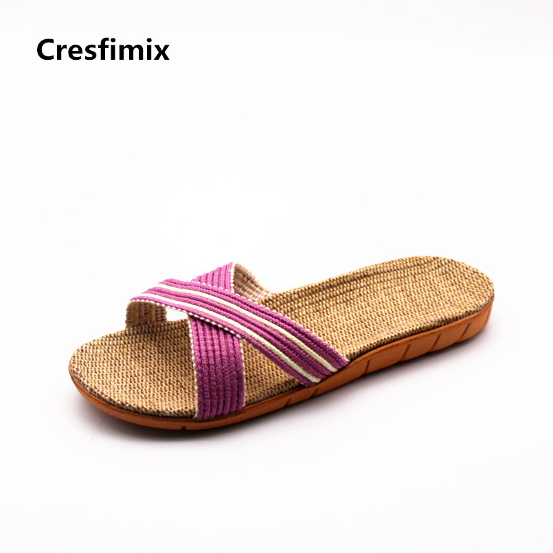 Cresfimix pantoufles pour femmes women fashion spring & summer slip on slippers lady casual street slides female cool slippers cresfimix women fashion