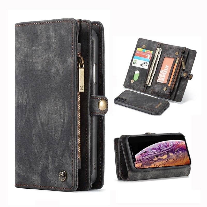 Luxus Leder Flip Telefon Fall für iPhone XR XS Max X Fall Brieftasche Karte Halter Abdeckung für iPhone 7 6 s 6 8 Plus Fall Coque Fundas