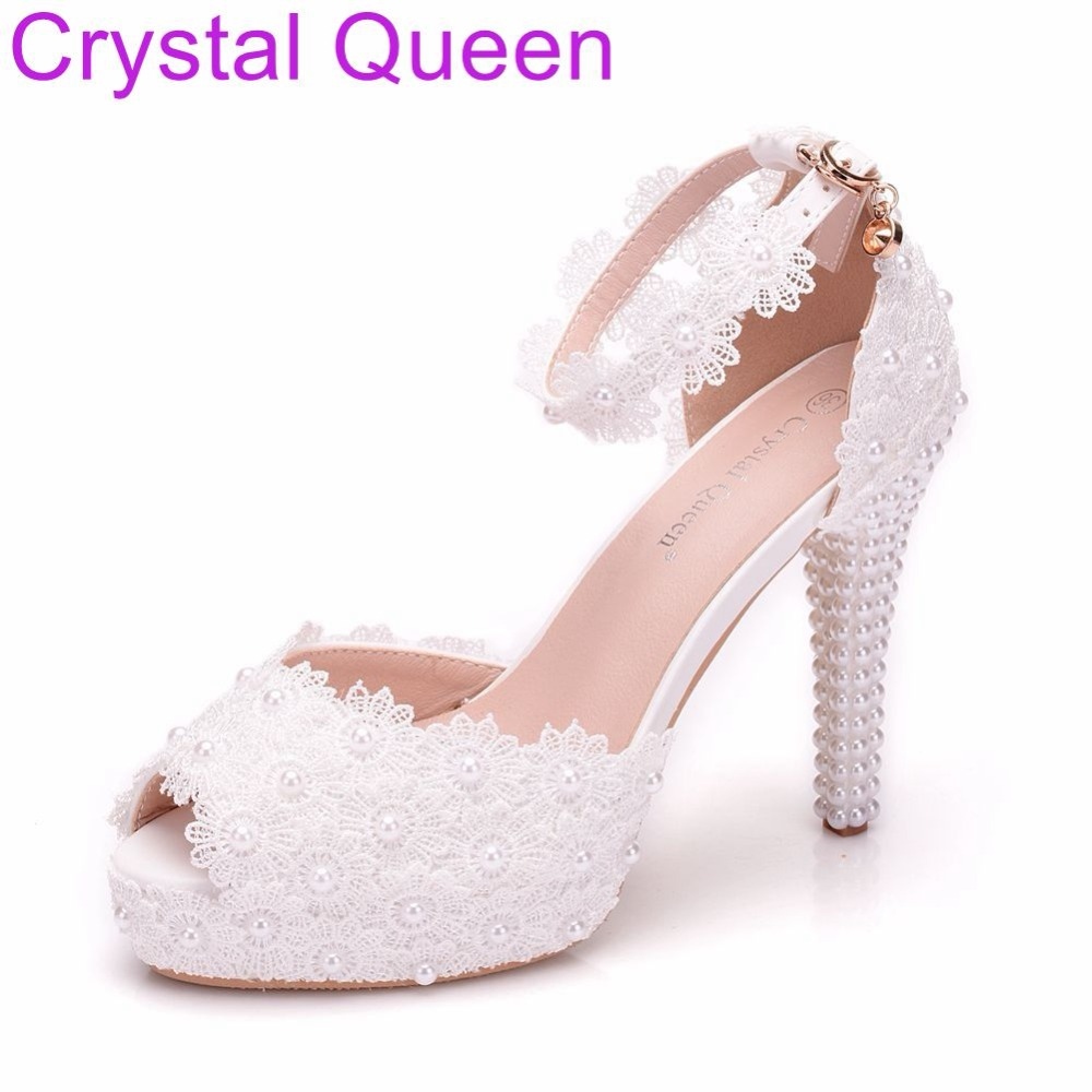 Buy bridal shoes peep toe and get free shipping on AliExpress.com b9d1ce60a97a