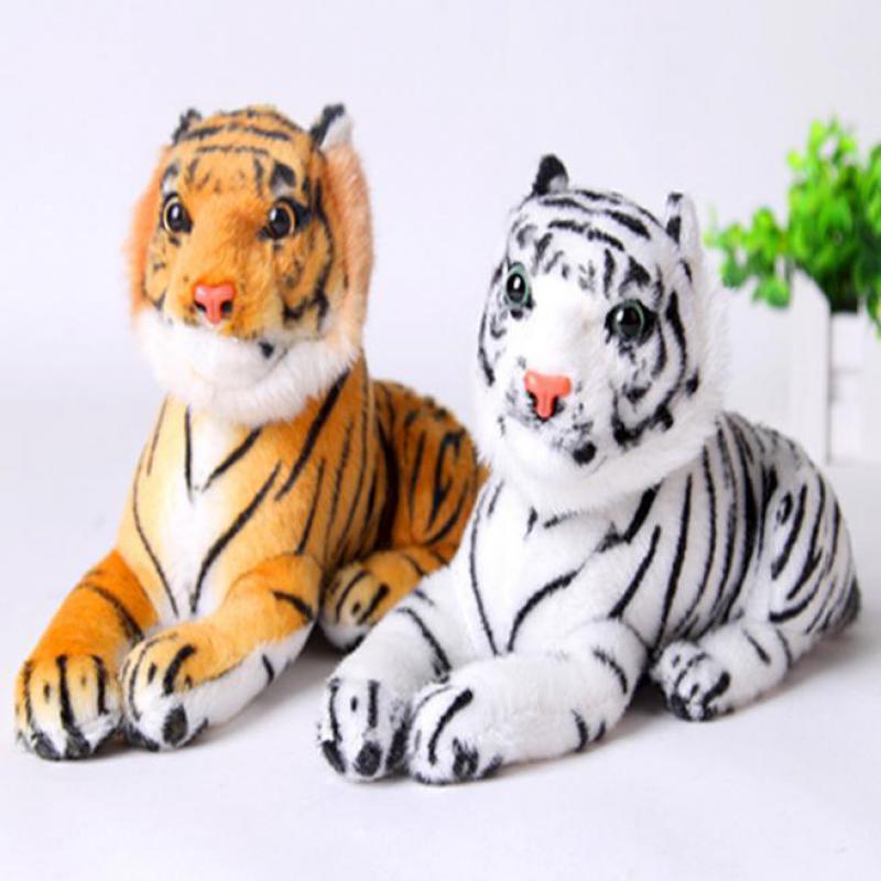 Kaliteli Sevimli Peluş Kaplan Hayvan Oyuncaklar Beyaz Sarı 2 Renkler Güzel Dolması Doll Hayvan Yastık Çocuklar Çocuklar Doğum Günü Hediyeleri