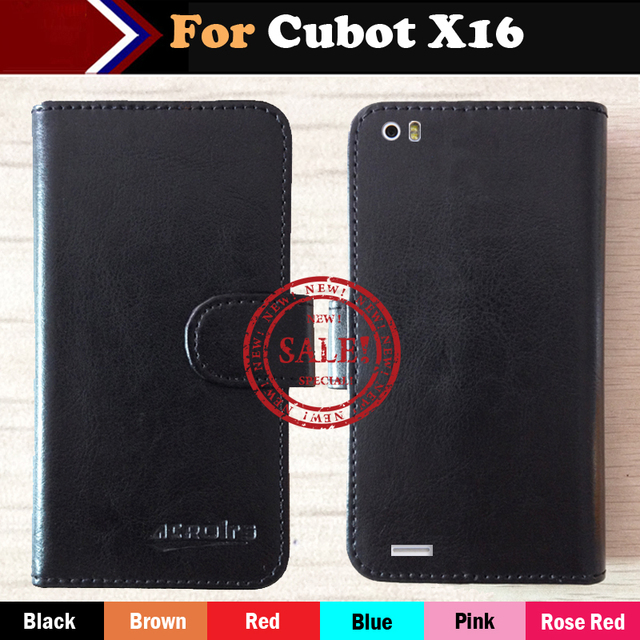 Top Hot!! Cubot X16 Case Factory Price Nice 6 Colors Luxury Dedicated Flip Leather Exclusive Cover For Cubot X16 Phone +Tracking