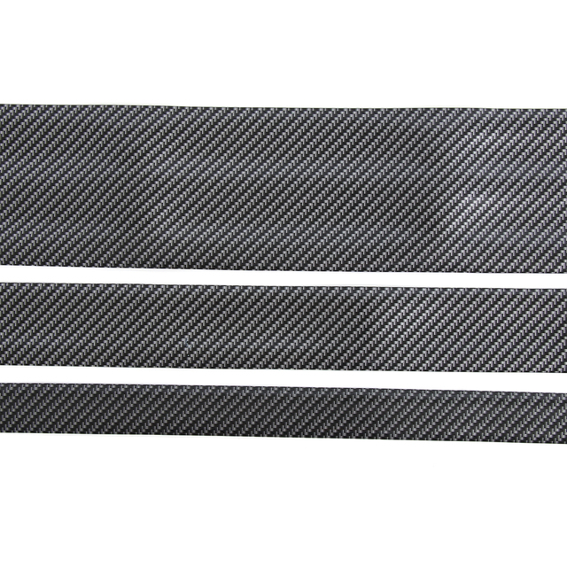 Carbon Fiber Rubber Soft Black Bumper Strip DIY Door Sill Protector Edge Guard Car Stickers Car Styling Accessories 3cm 5cm 10cm