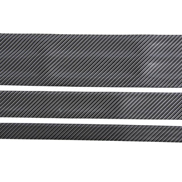 Carbon Fiber Rubber Soft Black Bumper Strip DIY Door Sill Protector Edge Guard Car Stickers Car Styling Accessories 3cm 5cm 10cm