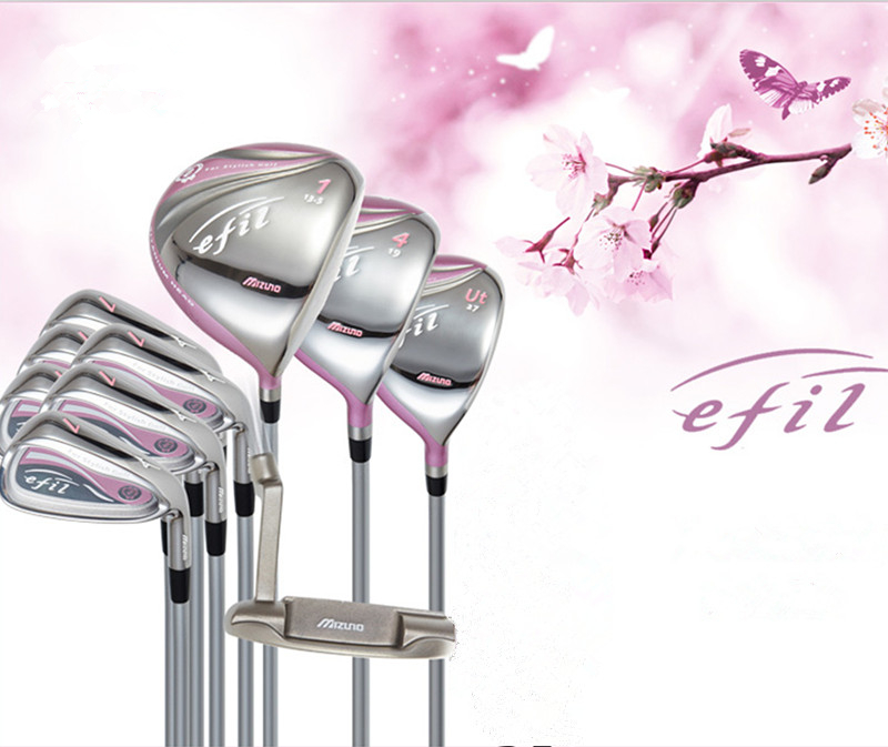 golf Complete Sets mizu efil golf clubs beginner ladies suit clubs no bag free shipping