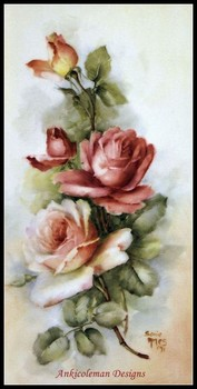 Needlework for embroidery DIY DMC Color High Quality - Counted Cross Stitch Kits 14 ct Oil painting - Blooming Roses