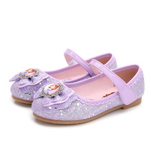 Buy 2019 New Elsa Girls Ballet Flats Dance Party Glitter Children Shoes Bling Princess Sneaker 3-14 Years Kids Shoe 2#17D50 directly from merchant!