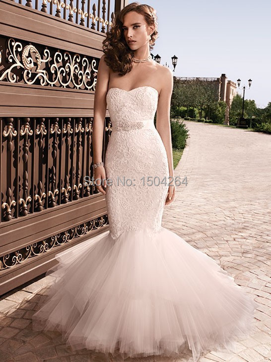 Blush Pink Mermaid Wedding Dress - Wedding Dress Ideas
