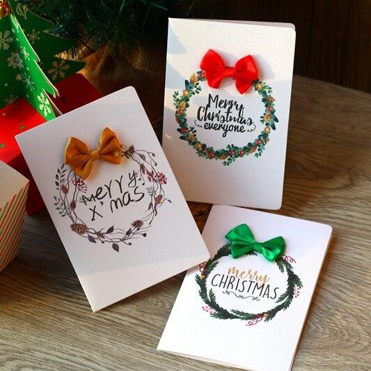 Bowknot Merry Christmas Card Greeting Card,Christmas Gift