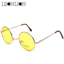 LeonLion 2017 Candy Color Round Sunglasses Women Fashion Sun Glasses Women Mirror Classic Vintage UV400 Oculos De Sol Gafas