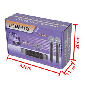 Image 5 - Lomeho LO V06 Dual Handheld VHF Frequencies Dynamic Capsule 2 channels Wireless Microphone for Karaoke System