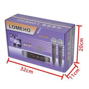 Image 5 - Lomeho LO V06 المزدوج المحمولة ترددات VHF كبسولة ديناميكية 2 قنوات ميكروفون لاسلكي ل نظام الكاريوكي