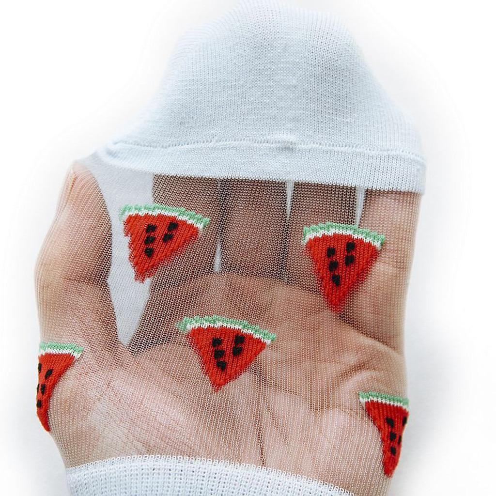 HTB1CXAKSzDpK1RjSZFrq6y78VXa6 - Women Casual Summer Fashion Transparent Silk Fruit Print Socks