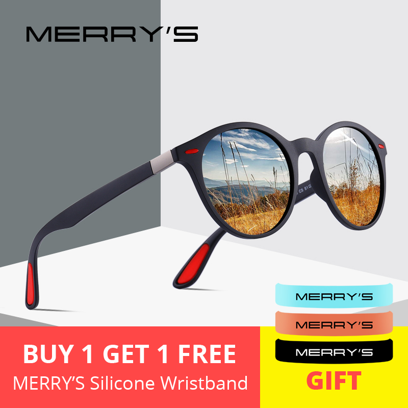 MERRYS DESIGN Men Women Classic Retro Rivet Polarized Sunglasses TR90 Legs Lighter Design Oval Frame UV400 Protection S8126(China)