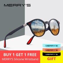 MERRYS дизайн для мужчин и женщин классические ретро заклепки поляризованные солнцезащитные очки TR90 ноги легче дизайн овальная рамка UV400 защита S8126