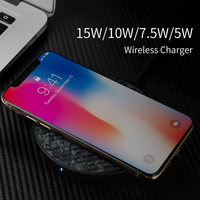 NILLKIN Tempered glass Wireless Charger for iPhone XS XS Max XR 15W Fast Qi Wireless Charger Pad for Samsung Note 9 S9 S8 Plus