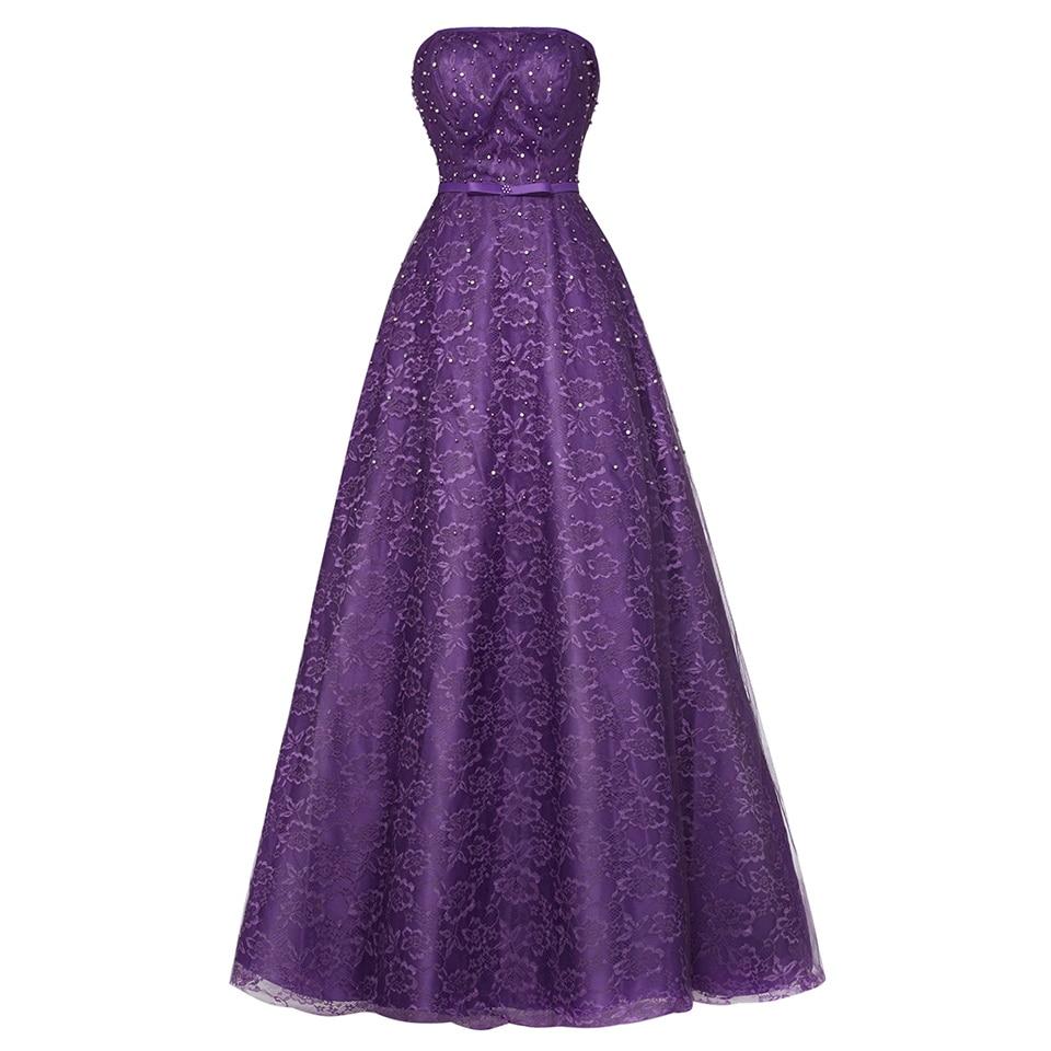 Dressv Dark Royal Blue Strapless Long Evening Dress Cheap Beading Lace Wedding Party Formal Dress A Line Evening Dresses