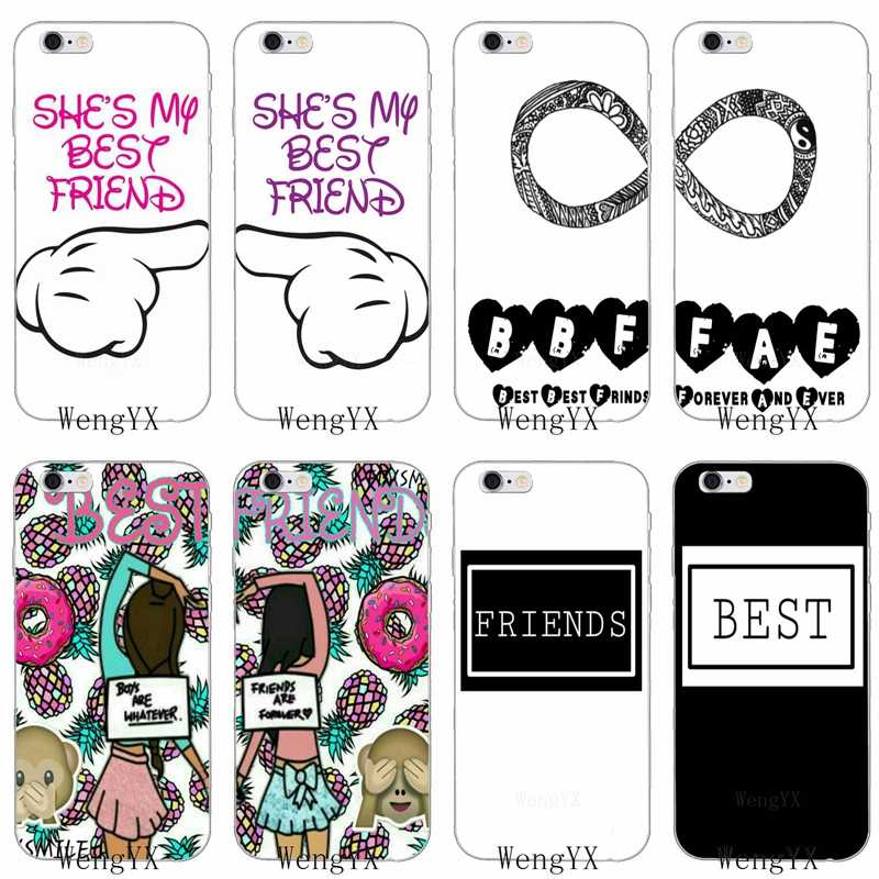 bff best friends quotes Couple Ultra Thin TPU Soft phone cover case For Huawei P7 P8 P9 P10 P20 pro Lite plus P Smart Mini 2017