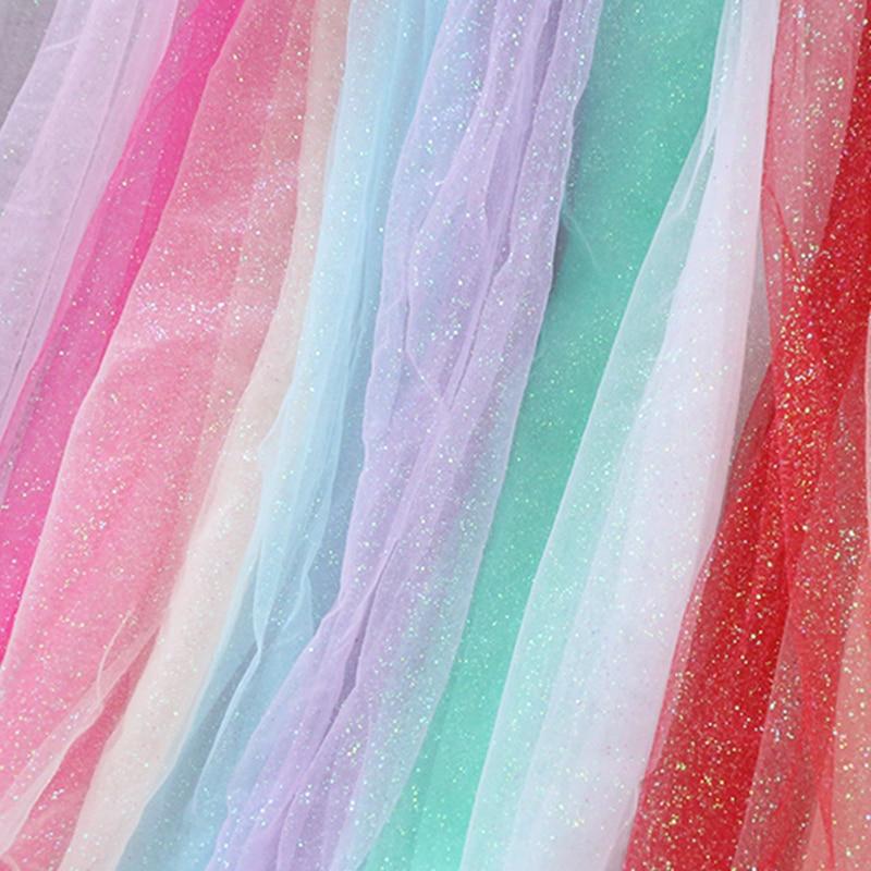 Shiny Organza Silk Photogrphy Backdrop Fabric Party Wedding
