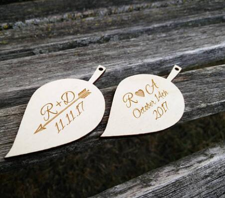 Personalized Name Rustic Leaf Wedding Baby Shower Birthday Gift Favor Tags Bridal Party Favors Invitation Inserts