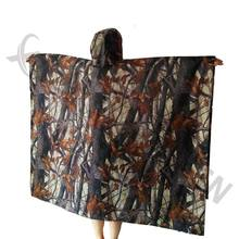3in1 Outdoor Military Travel Camouflage Raincoat Poncho Backpack Rain Cover Waterproof Mat Awning Hunting Camping Hike mats