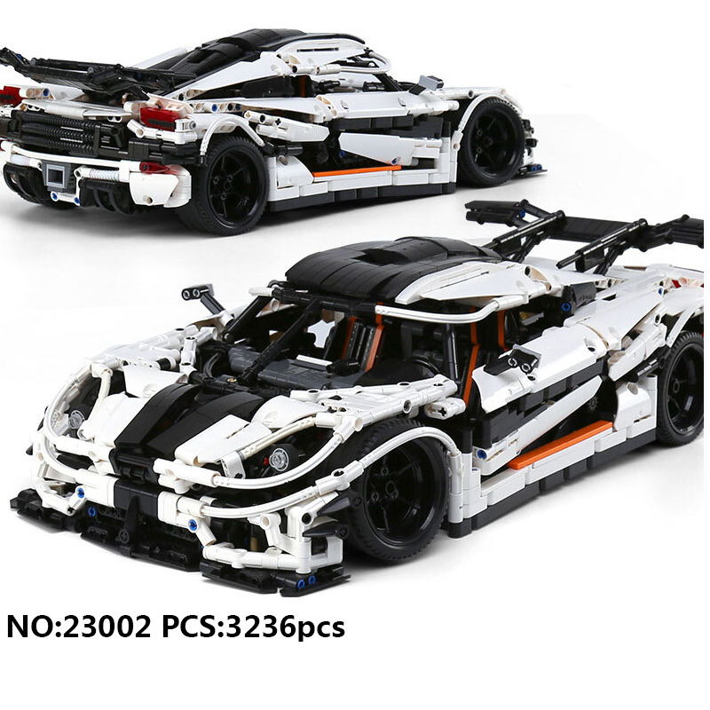 купить Hot Technics technican 1:15 scale Koenigseggs one agera super sports car building block model bricks toys collection wheels по цене 4936.62 рублей